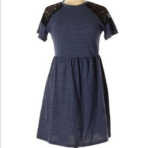 TOPSHOP spring short sleeve dress with lace